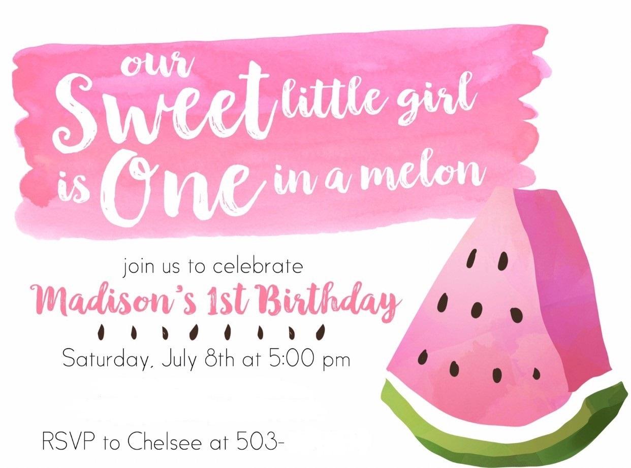 Watermelon Invite